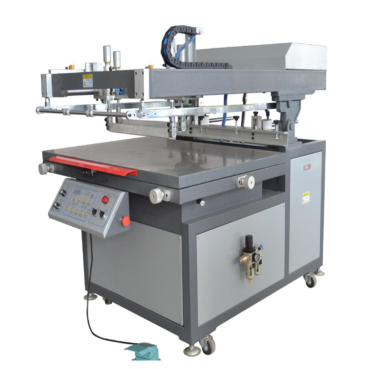 Tilted-arm Flat Bed Screen Printer with Vaccum Table LY-6090T