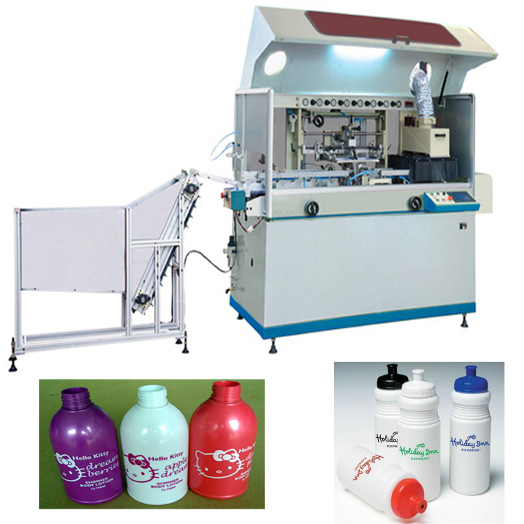 1 color full automatic screen printer for plastic bottle