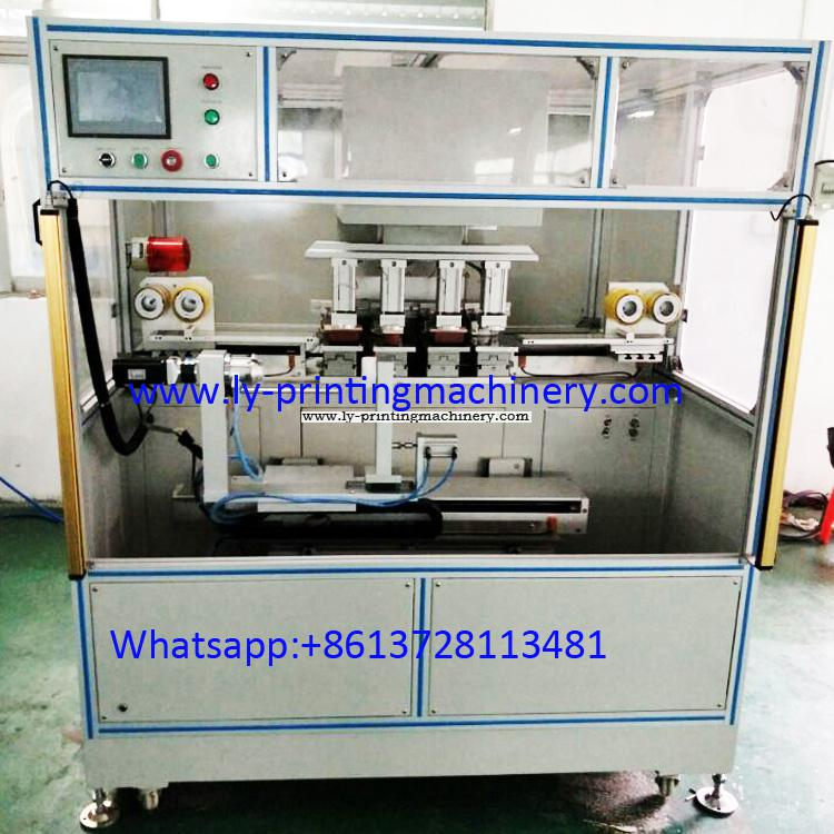 4 color PLC pad printer with cleaning pad system