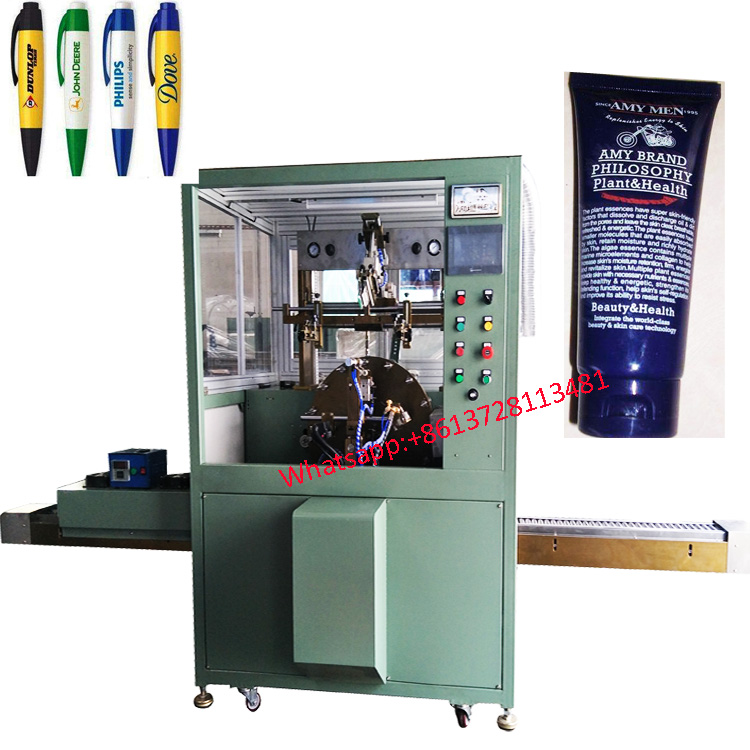 Ballpen soft tube auto screen printing machine