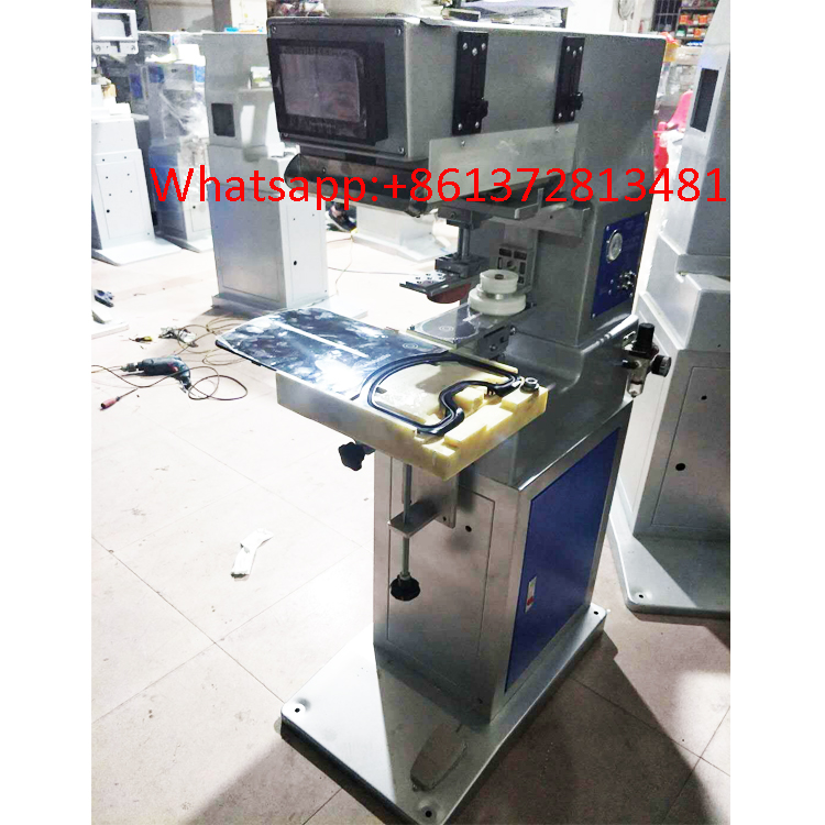 1 color customized pad printing machine with closed ink cup system