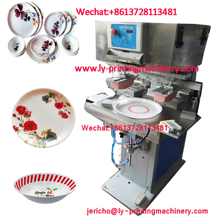 Plastic tray plate 2 color big pad printer
